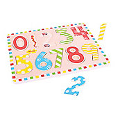 Bigjigs Toys BJ756 Inset Puzzle Numbers