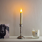 Battery LED Window Candle with Silver Base