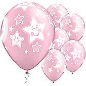 11' Baby Moon & Stars Pink (6pk)
