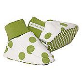 Pea print booties - Green