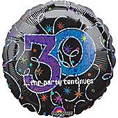 """30th Birthday Balloon - 18"""" Foil (each)"""
