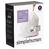 simplehuman Code K Drawstring Bin Liners, 50 pack