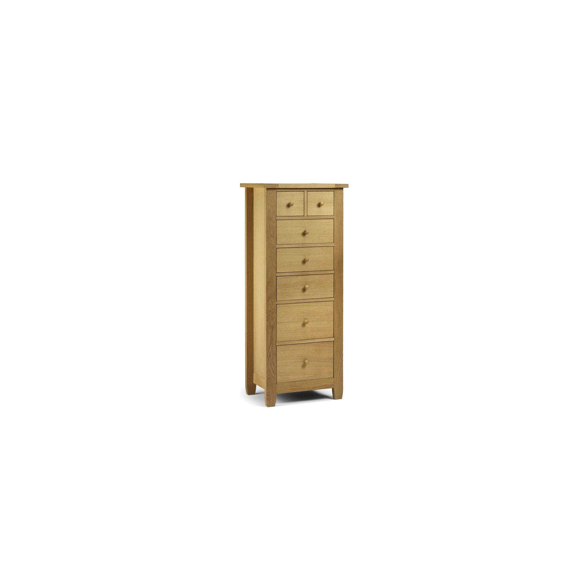 Julian Bowen Lyndhurst 7 Drawer Tallboy Chest at Tesco Direct