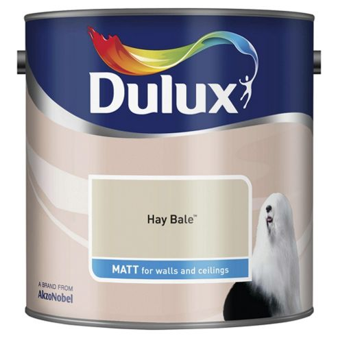 Dulux Matt Emulsion Paint, Hay Bale, 2.5L