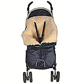 Safetots Lambskin Stroller Footmuff with Centre Zip Navy Blue
