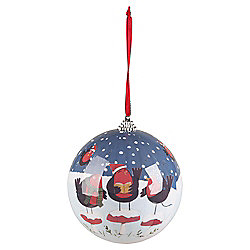 Pudding Town Decoupage Christmas Bauble