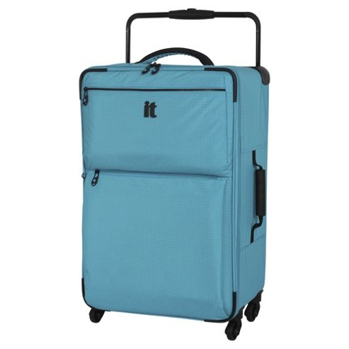 buy it luggage world 39 s lightest 4 wheel turquoise check. Black Bedroom Furniture Sets. Home Design Ideas