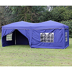 Palm Springs 10' X 20' Pop Up Gazebo With Sides Blue
