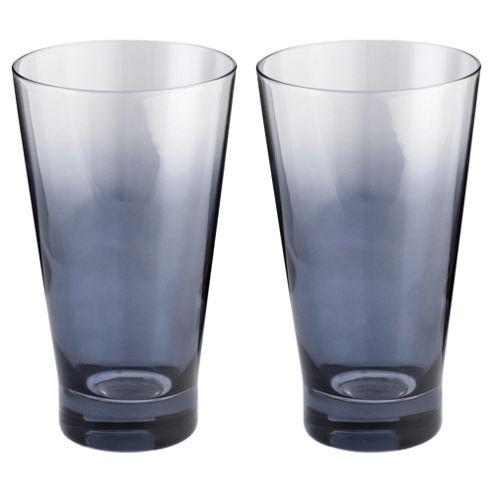 Tesco 2 pack Ombre Metallic Hiball Glass, Grey