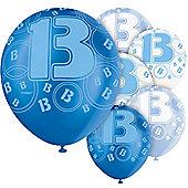 12' 13th Latex Balloons (6pk)
