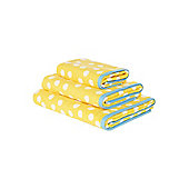 Yellow Polka Dot Hand Towel