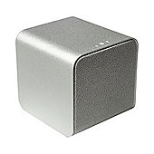 NuForce Cube Portable Speaker, Headphone Amp, and Audiophile USB DAC, Silver
