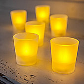 Set of 6 Flickering LED Frosted Battery Tea Lights