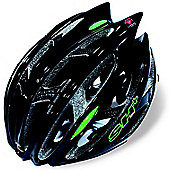 SH+ Zeuss Pro Helmet: Black/Green L/XL.