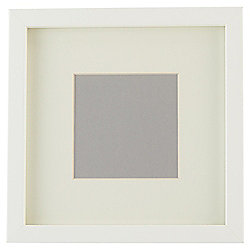 "Tesco Basic Photo Frame White 7 x 7""/4 x 4"" with Mount"