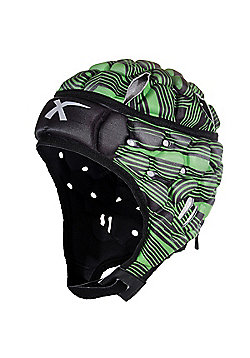 X Blades Wild Thing Rugby Headguard Scrum Cap Head Protection - Green