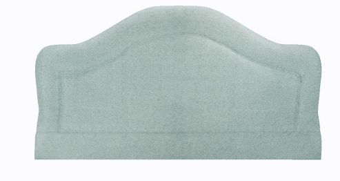 Interiors 2 suit Swift Upholstered Headboard - Single - Faux Suede - Aqua