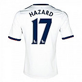 2013-14 Chelsea Away Shirt (Hazard 17) - White