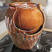 Ceramic Vase Indoor Tabletop Water Feature