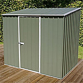 8ft x 5ft Space Saver Pale Eucalyptus Metal Shed (2.26m x 1.52m)
