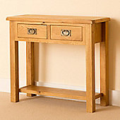 Lanner Console Table - Rustic Oak