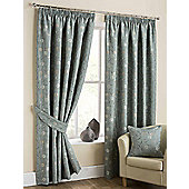 Isabella Pencil Pleat Curtains - Duck egg