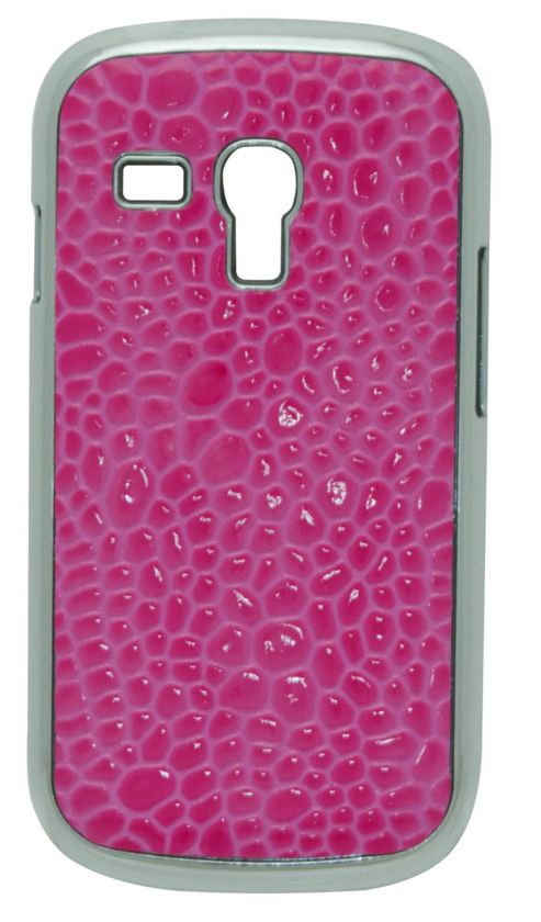 Tortoise™ Look Hard Case Samsung Galaxy SIII Mini Croc Pink