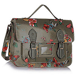 KCMODE Ladies Grey Butterfly Design Satchel Handbag