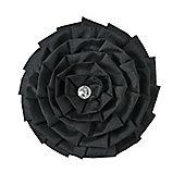 Catherine Lansfield Home Diamond Pleats Cushion Black Cushion