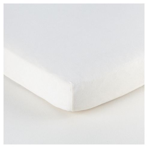 Tesco Loves Baby Cotbed Jersey Fitted sheet 2 pack white