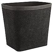1.5L Felt Waste Bin - Grey