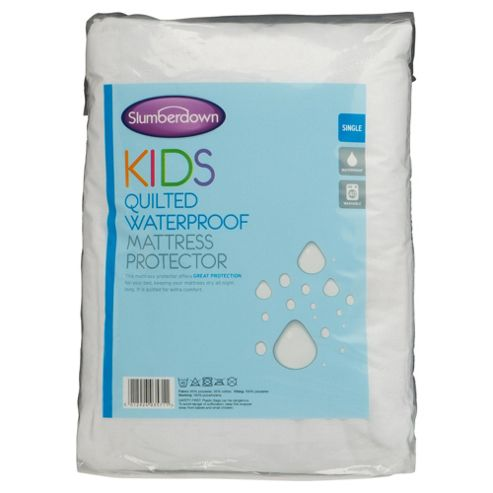 Slumberdown Kids Waterproof Quilted Mattress Protector, Single