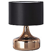 Cologne Glass Table Lamp, Copper Metallic