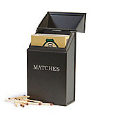 Matches Storage Tin in Coffee Colour