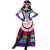 Day of the Dead Sugar Skull - Adult Costume Size: 16-18