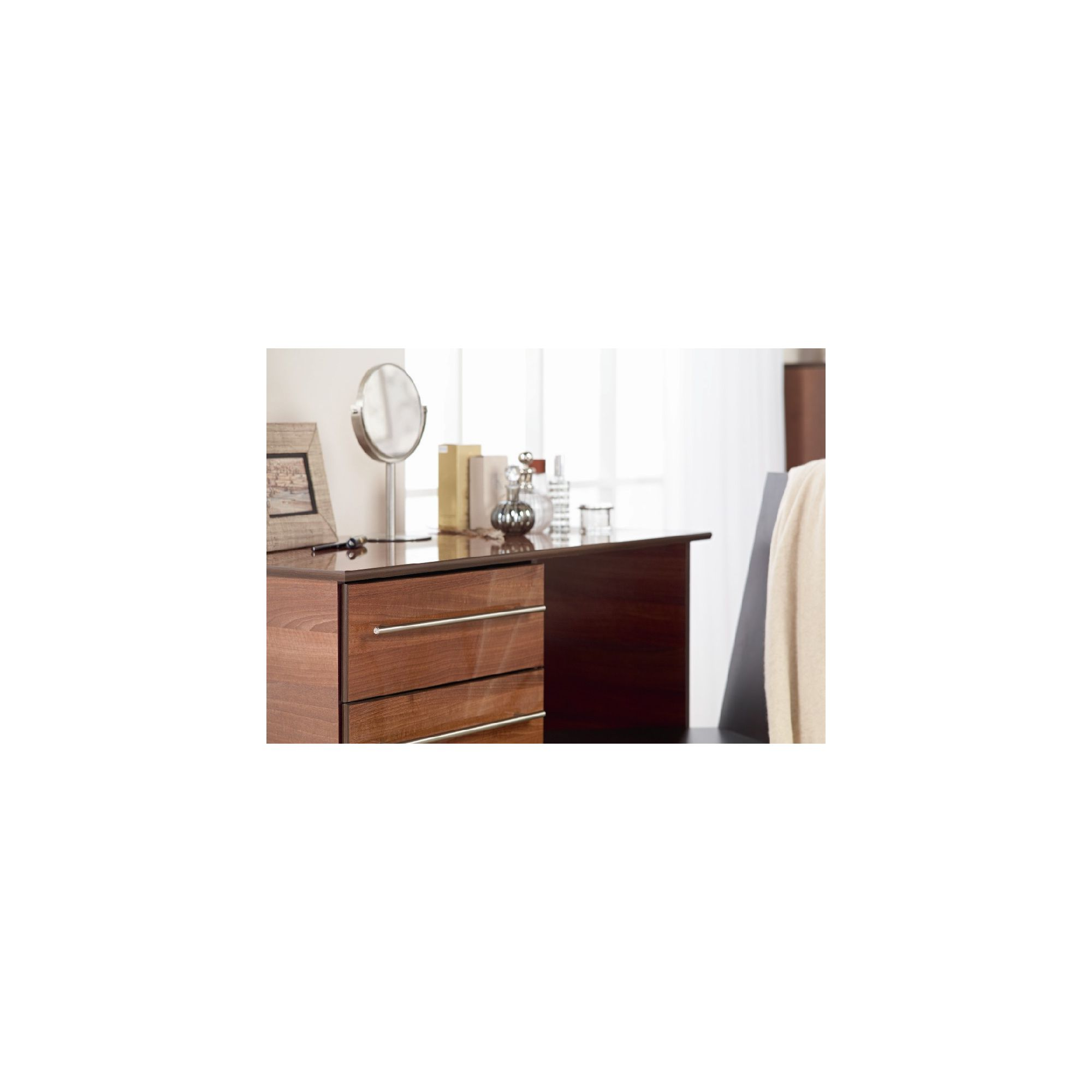 Ideal Furniture New York Single Dressing Table - American Walnut at Tesco Direct