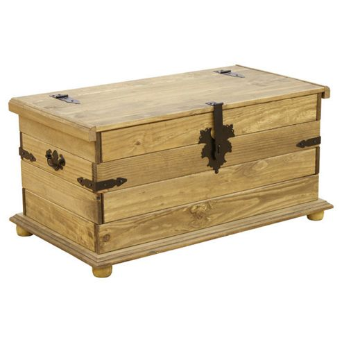 Home Essence Corona Storage Chest in Distressed Waxed Pine