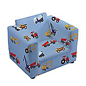Children's Toy Trucks Upholstered Armchair with Straight Arms