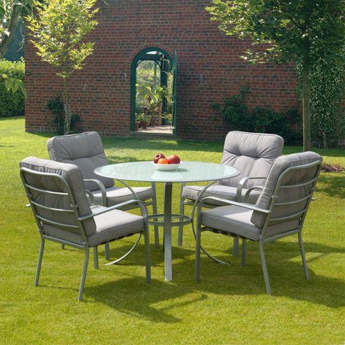Buy SunTime Evesham Grey 5 Piece Garden Dining Set From Our Garden Furniture