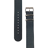 Rec Unisex Grey Watch Strap 22-GRY-SAT