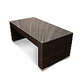 Rattan Denby Coffee Table - Glass Top