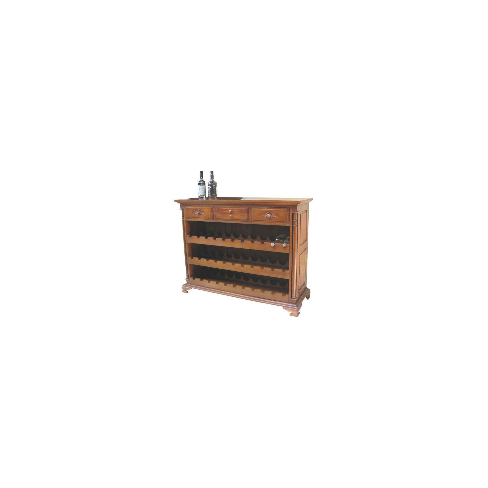 Lock stock and barrel Mahogany 4 Drawer Wine Rack in Mahogany at Tesco Direct