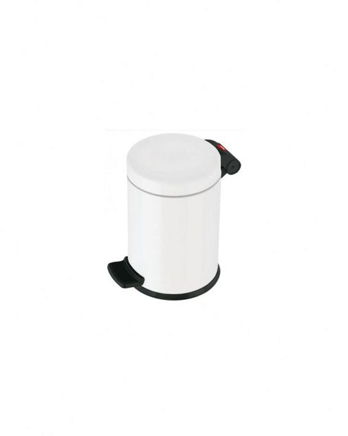 Hailo Trento 4 Pedal Cosmetics Bin in White with Carry Handle