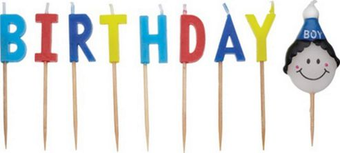 Sweetly Does It Birthday Cake Candles for Boys
