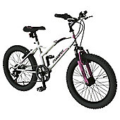"Muddyfox Havana 20"" Front Suspension Mountain Bike, White & Pink"
