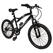 "Muddyfox Hazard 20"" Front Suspension Mountain Bike, Black"