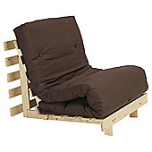 Helsinki Pine Single Futon With Mattress Chocolate