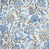 Decopatch Sheet ref. 337 Blue/Gold Vintage Floral