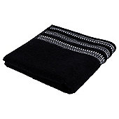 Kingsley Black Sparkle Border Hand Towel