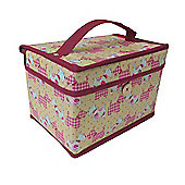 Country Club Small Sewing and Craft Chest, Scottie Dogs,21 x 14 x 14cm
